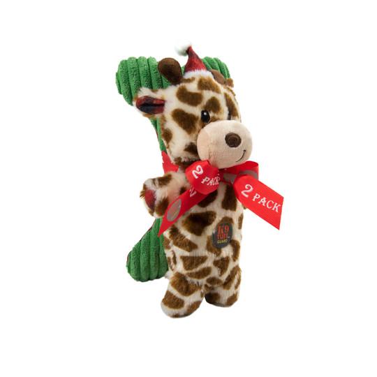 Mitten Mates Giraffe & Bone Holiday Dog Toy, Multi
