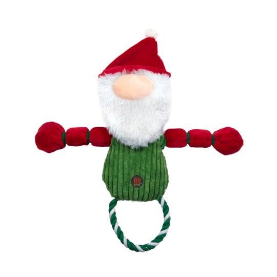 Thunder Tuggerz Holiday Gnome Dog Toy, Green, Large