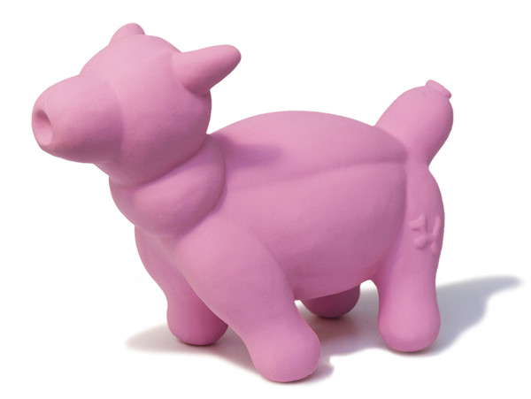 Latex Rubber Balloon Pig Dog Toy, Pink, Large