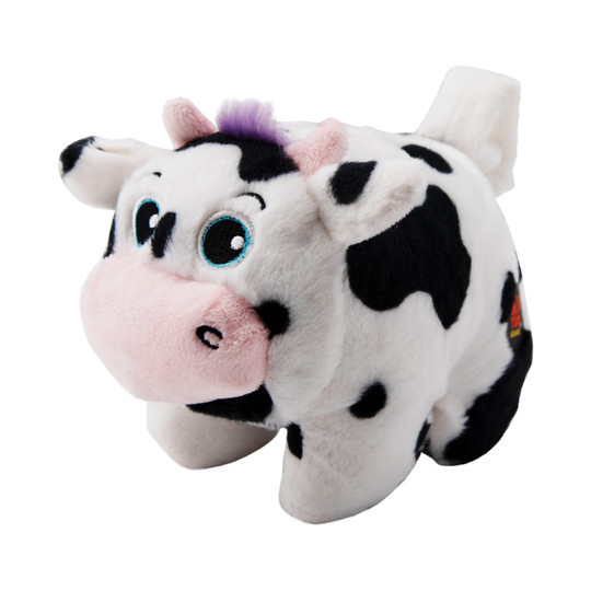 Poppers Cow Dog Toy, Multi, XS
