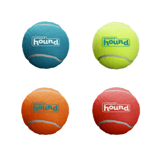 Squeaker Ballz Dog Toy - 4 Pack, Multi, Small