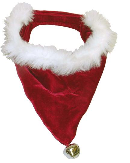 Holiday Santa Bandana Dog Accessory, Red, Large