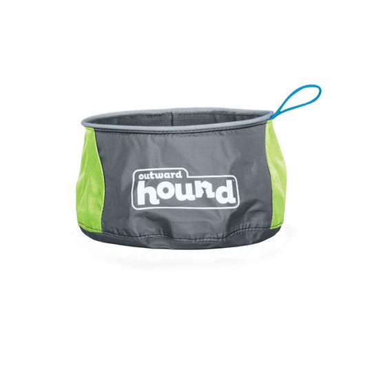 Port-A-Bowl Portable Dog Dish, Green, Large