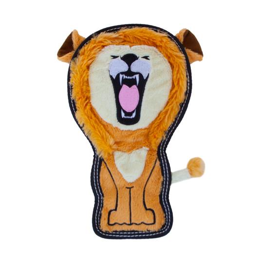 Tough Seamz Lion Plush Dog Toy, Tan, Medium