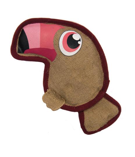 Naturals Hempyz Toucan Dog Toy, Pink