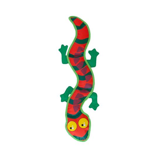 Fire Biterz Gecko Plush Interactive Dog Toy, Orange, Large