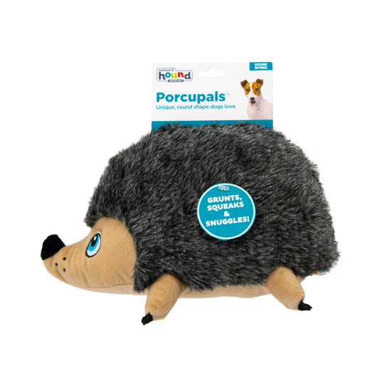 Porcupals Plush Dog Toy, Grey, Medium