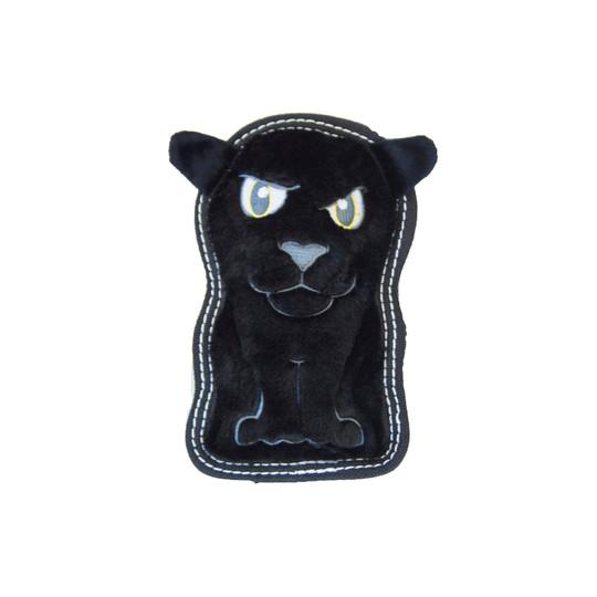 Tough Seamz Panther Plush Dog Toy, Black, Small