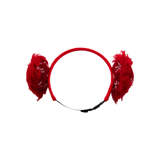 Holiday Earmuffs Dog Accessory, Red, XS/Small