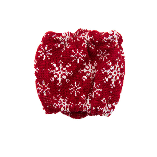 Holiday Scarf Dog Accessory, Red, Small