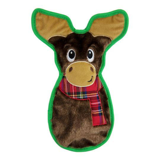 Invincibles Moose Plush Dog Toy, Brown, Medium