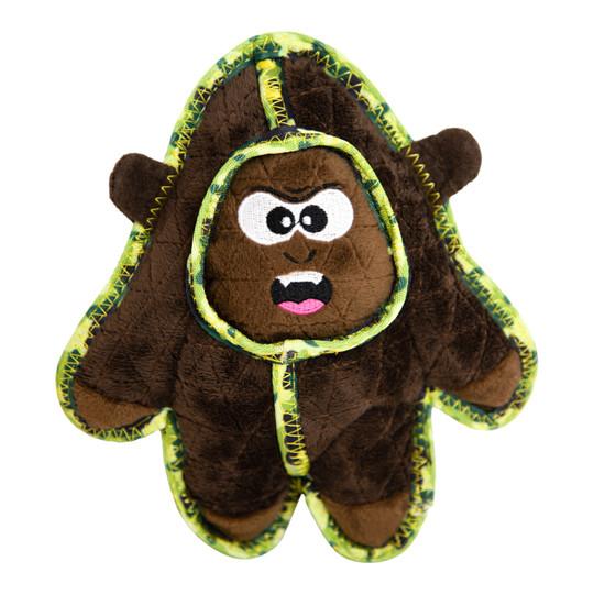 Xtreme Seamz Gorilla Dog Toy, Brown, Medium