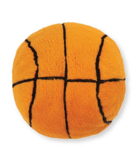 Squeaky Sports Ballz Basketball Dog Toy, Orange, Medium