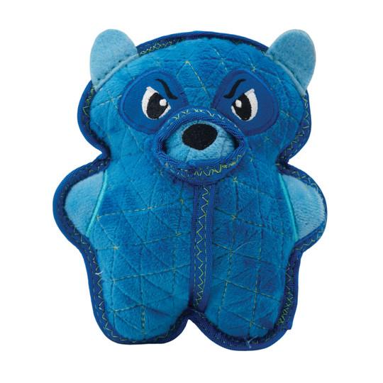 Xtreme Seamz Raccoon Plush Dog Toy, Blue, Medium