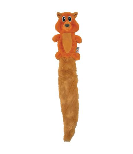 Slimz Stuffing-Free Coyote Dog Toy, Orange, Large
