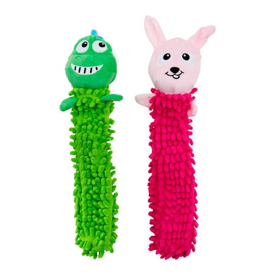 Nubbiez Loofa Plush Dog Toy 2 Pack, Assorted, Medium