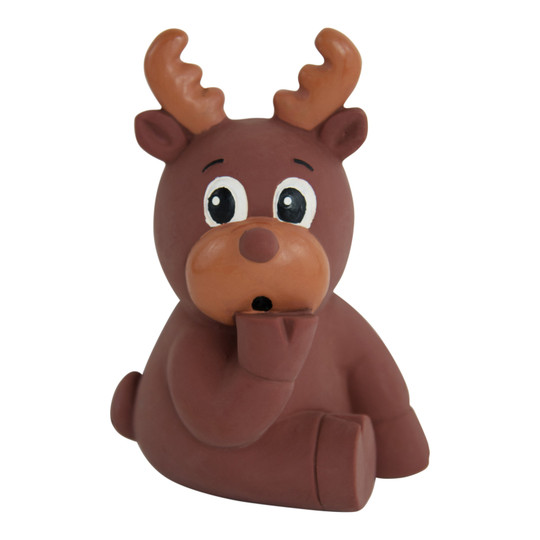 Tootiez Reindeer Holiday Latex Rubber Dog Toy, Brown, Small