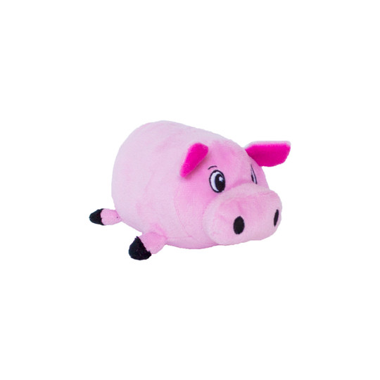 Fattiez Pig Plush Dog Toy, Pink, Small