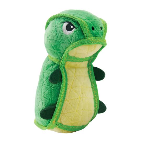 Xtreme Seamz Dino Plush Dog Toy, Green, Medium