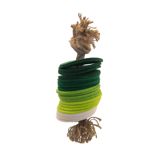 Naturals Rope N Rings Dog Toy, Green