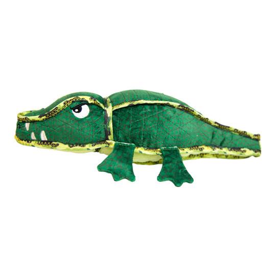 Xtreme Seamz Alligator Dog Toy, Green, Medium