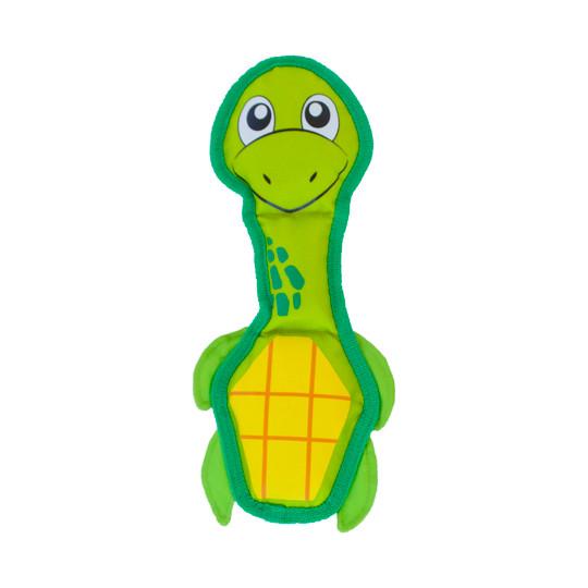 Fire Biterz Turtle Plush Interactive Dog Toy, Green, Medium