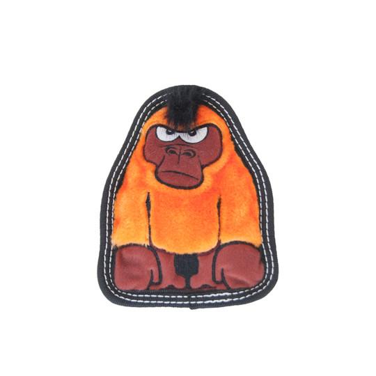 Tough Seamz Gorilla Plush Dog Toy, Orange, Small