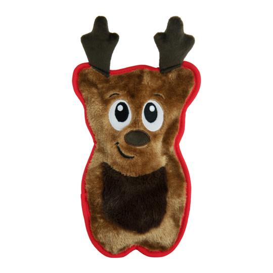 Invincibles Reindeer Plush Dog Toy, Brown, Medium