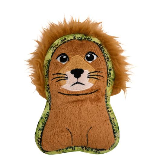 Xtreme Seamz Lion Dog Toy, Orange, Small