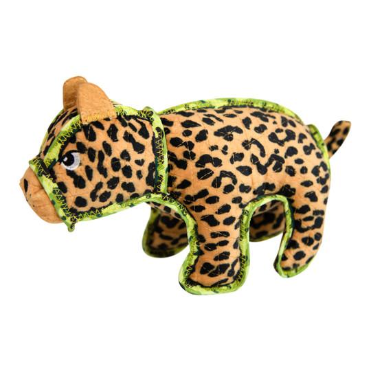 Xtreme Seamz Leopard Dog Toy, Tan, Medium
