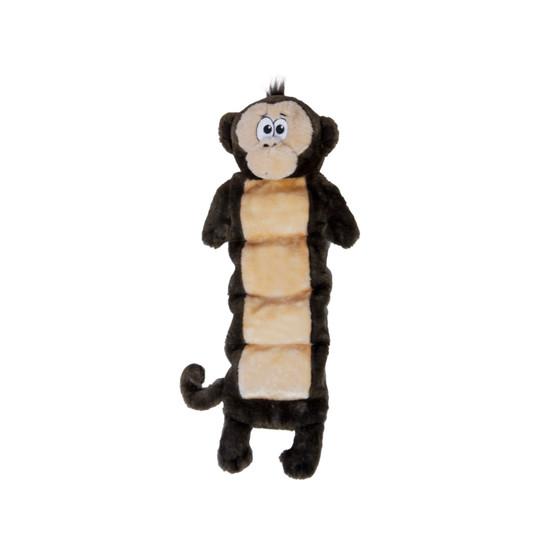 Squeaker Palz Plush Monkey Dog Toy, Brown, XL