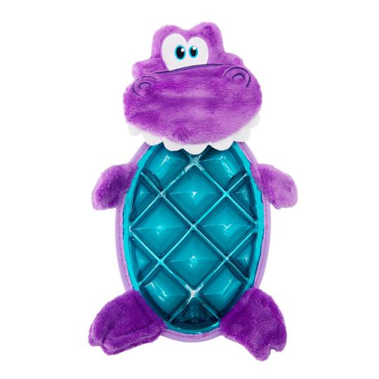 Bubble Palz Plush Dino Dog Toy, Purple, Medium