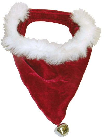 Holiday Santa Bandana Dog Accessory, Red, Small