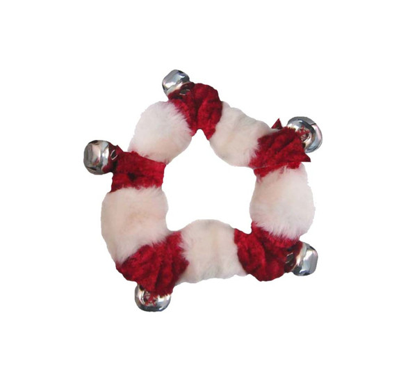 Bell Collar Holiday Dog Accessory, Red, Small