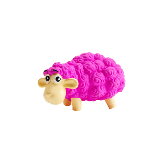 Tootiez Sheep Latex Rubber Dog Toy, Pink, Small