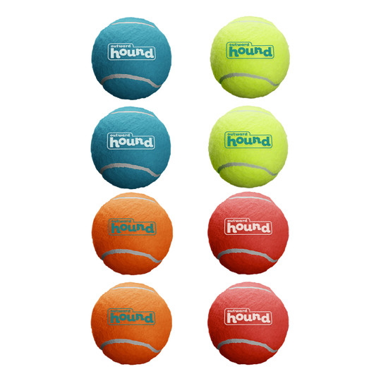 Squeaker Ballz Dog Toy, 8-Pack, Multi, Small