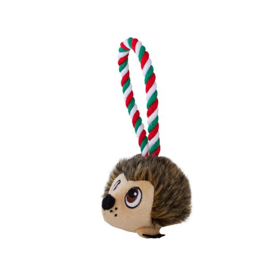Tuggiez Hedgehog Holiday Dog Toy, Brown