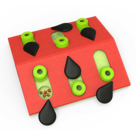 Melon Madness Puzzle & Play Cat Game, Pink