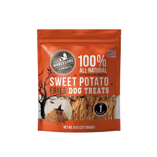 Halloween Sweet Potato Fries Dog Treats, Orange, 8 Oz