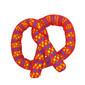 Catnip Plaque Away Pretzel Cat Chew Toy, Orange