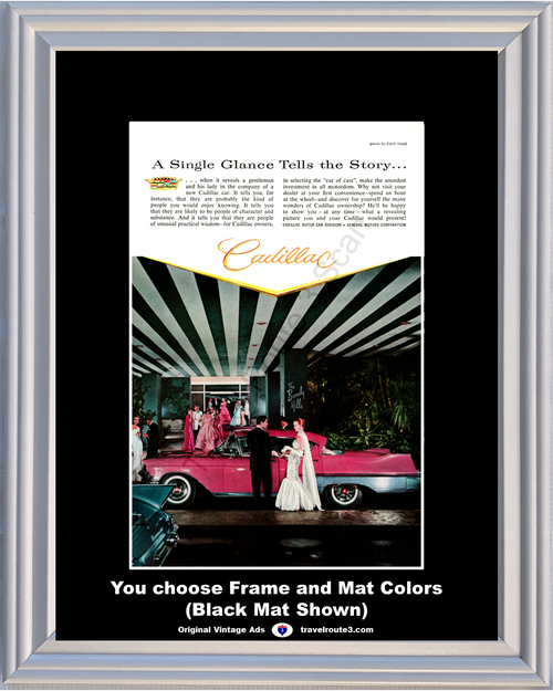 1957 57 Cadillac Fleetwood The Beverly Hills Hotel Gowns by Edith Small Vintage Ad