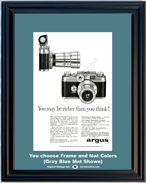 1957 57 Argus C-44 Camera 50mm Cintagon Lens Wide Angle Sylvania Electric Vintage Ad