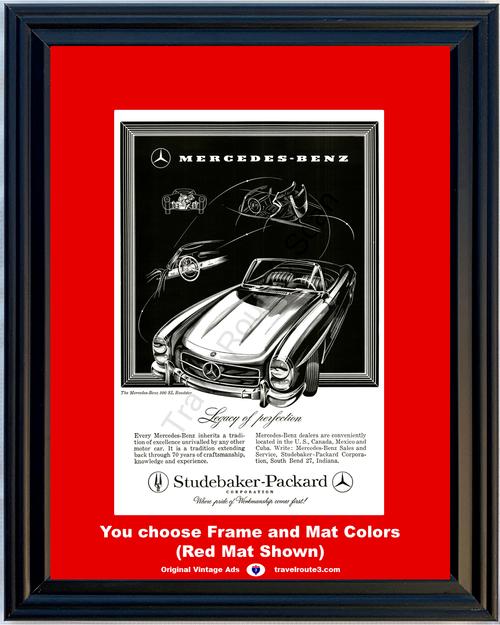 1958 58 Mercedes Benz 300 SL Roadster Studebaker Packard Late 1957 Vintage Ad