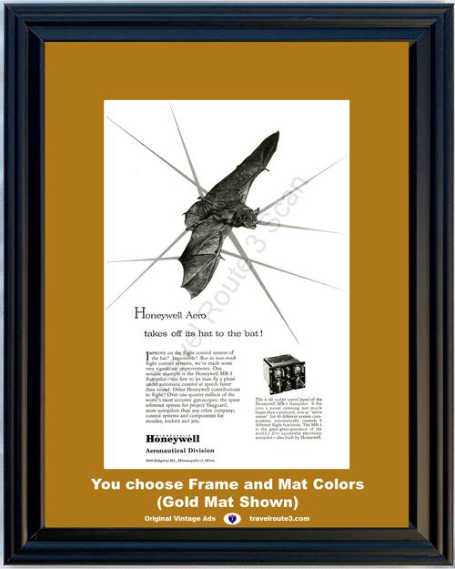 1957 57 Honeywell Aeronautical Division Bat Flight Control Missile Rocket Jet Airplane Air Plane Vintage Ad