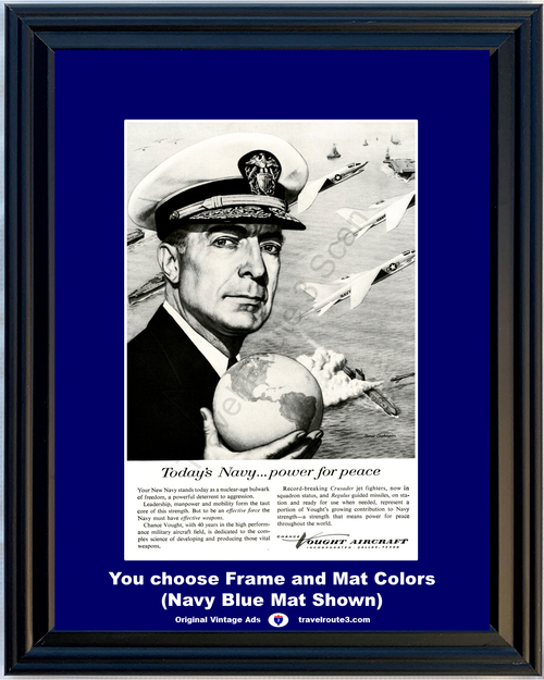 1957 Navy Chance Vought Aircraft Vintage Ad Aircraft Airplane Air Plane US 57 Free Priority Shipping to USA