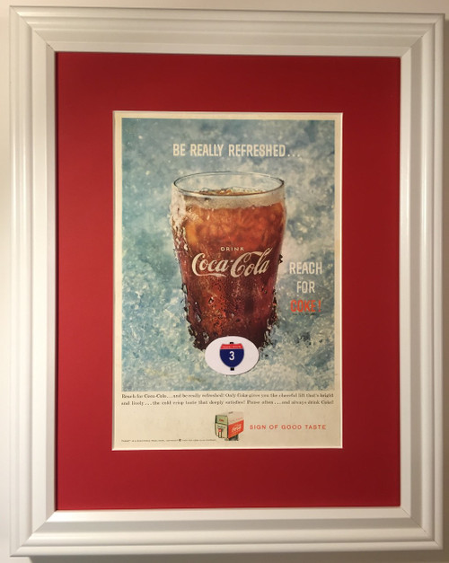 1959 59 Coca-Cola Vintage Ad Glass Be Really Refreshed Reach for Coke Sign of a Good Taste  Coca, cola, cocacola, coke, soda, pop, fountain, soft, drink, drinks, refreshment, refreshments,