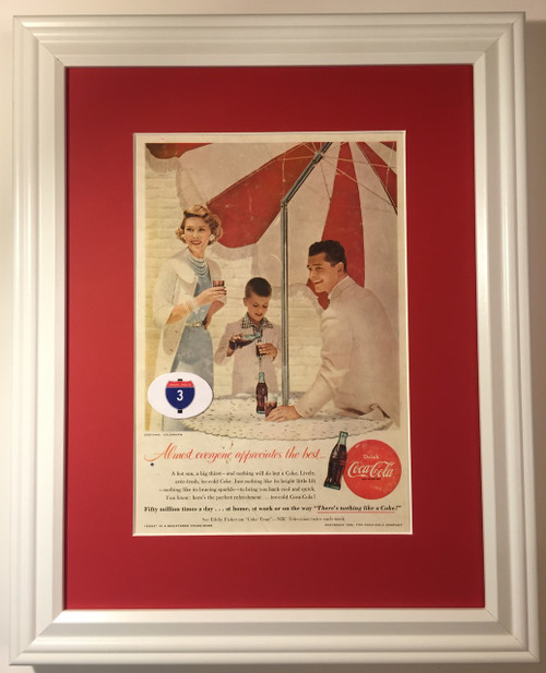 1955 55 Coca-Cola Vintage Ad Coke Almost Everyone Appreciates the Best There's Nothing Like a Coke Drink  Coca, cola, cocacola, coke, soda, pop, fountain, soft, drink, drinks, refreshment, refreshments,