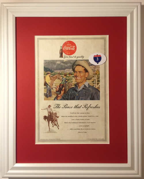 1953 53 Coca-Cola Vintage Ad Coke Cowboy Horse Drink You Trust its Quality The Pause that Refreshes Have a Coke  Coca, cola, cocacola, coke, soda, pop, fountain, soft, drink, drinks, refreshment, refreshments,