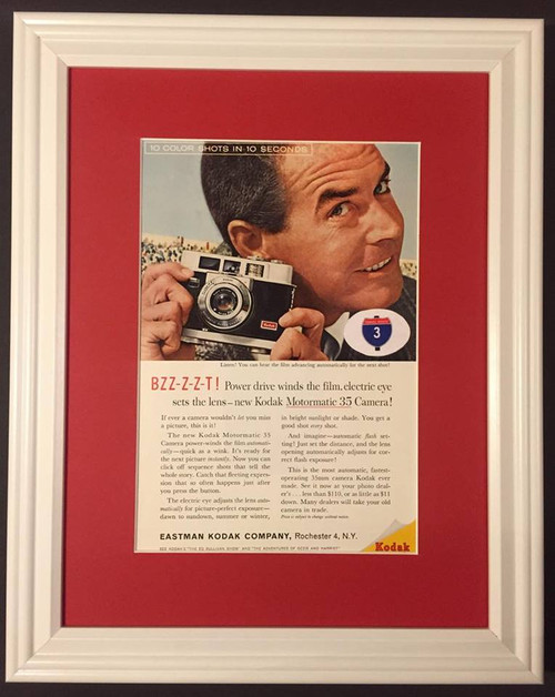 1960 60 Eastman Kodak Motormatic 35 Camera Vintage Ad  Camera, cameras, photo, photos, movie, projector, projectors, picture, pictures, photography, photographer, slide, slides, black, and, white, film, instant, 35, mm, 35mm, movies, flash, professional,