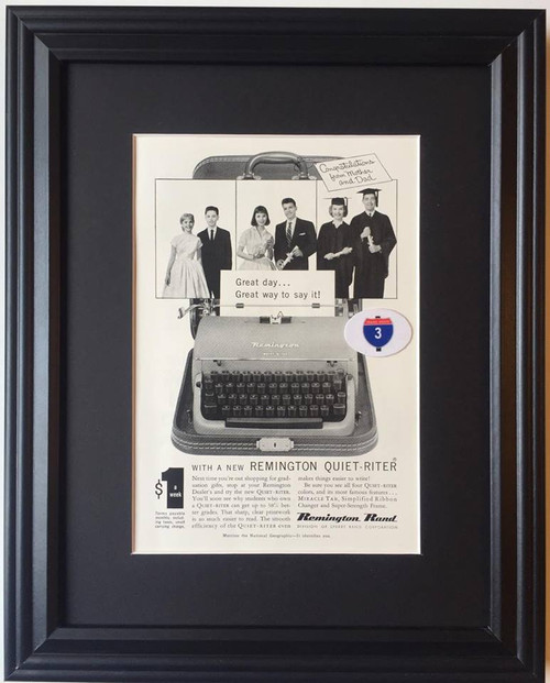 1957 57 Remington Rand Quiet Riter Typewriter Vintage Ad - Sperry Rand Corporation  remington, typewriter, typewriters, antique, vintage